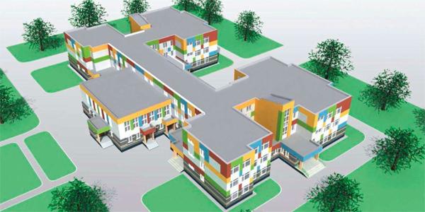 """Детский сад на 330 мест в микрорайоне М-1 жилого комплекса """"Светлая долина"""""""